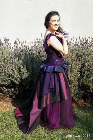 Two-toned silks and ruffles